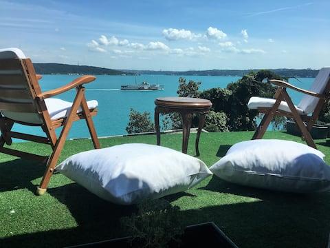 Terrace with amazing bosphorus view