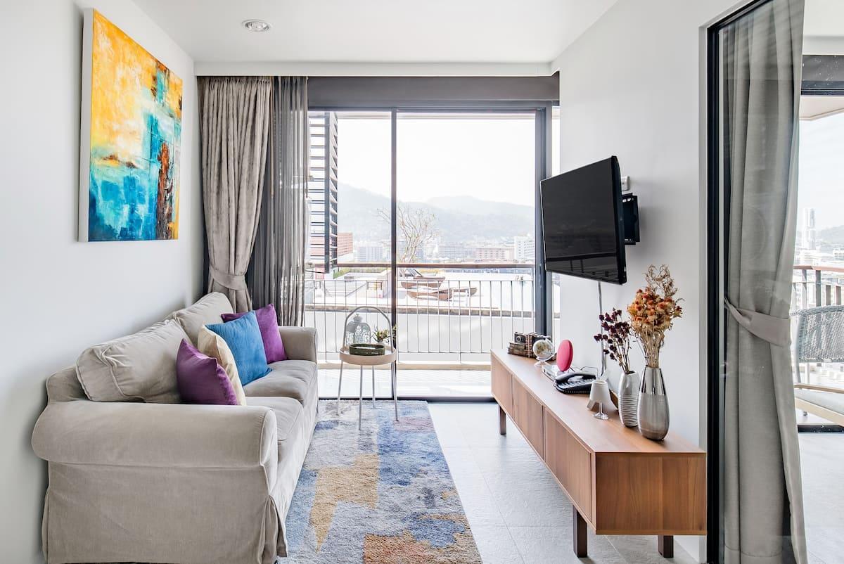 Endless Patong Ocean View from a Hilltop Condominium, Phuket