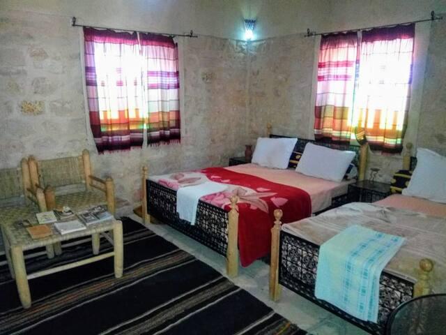 Family room in Kasbah Dar Talouste at Ouarzazate