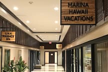 Marina Hawaii Vacation's office is located in the lobby at the Ilikai Tower.