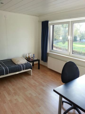 Close to city center and Maastricht/Aachen area.