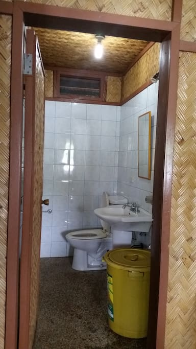 Private toilet and shower
