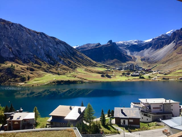 New apartment with large balcony view of the lake - Tignes - Flat