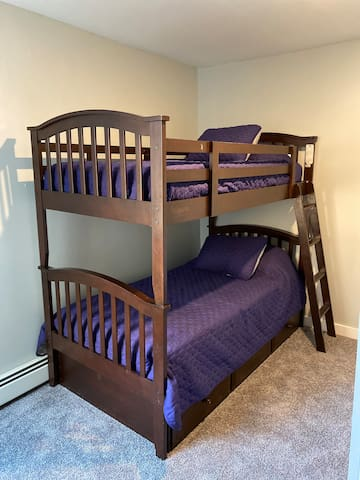 Third floor bunk beds with a trundle