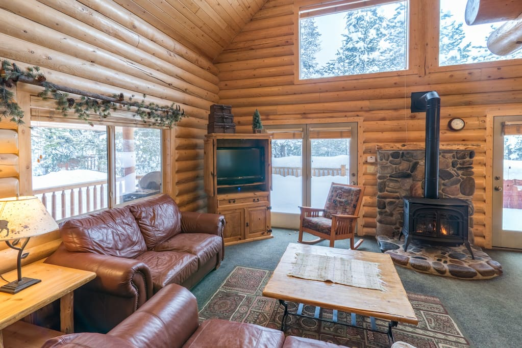 Sit around the charming stone fireplace in the family room and plan your upcoming adventures.