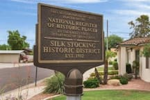 "The Historic ""Silk Stocking"" District where the home is located, along with Downtown Chandler have experienced tremendous revitalization in recent years!"