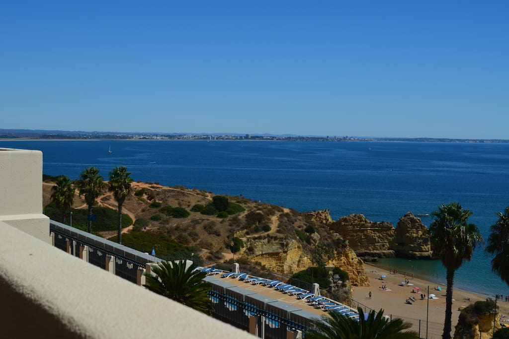View on Dona Ana Beach from our terrace and Meia Praia (Beach) on the left, in the distance