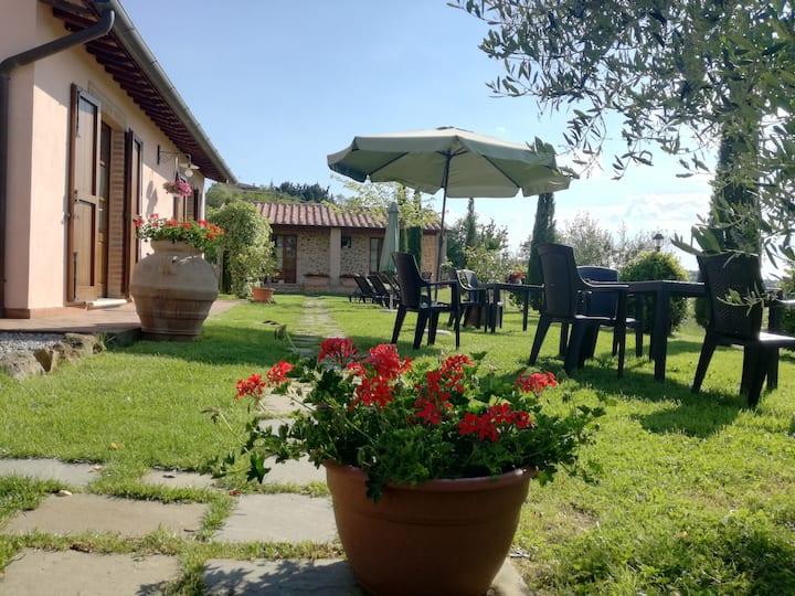 Camere con vista panoramica sulle colline Toscane