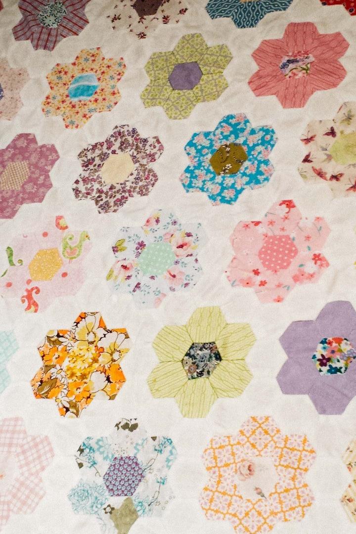 Traditional Grandma's path - hexagons