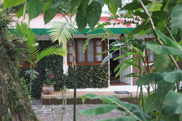 Acogedora casita con jardín de ensueño