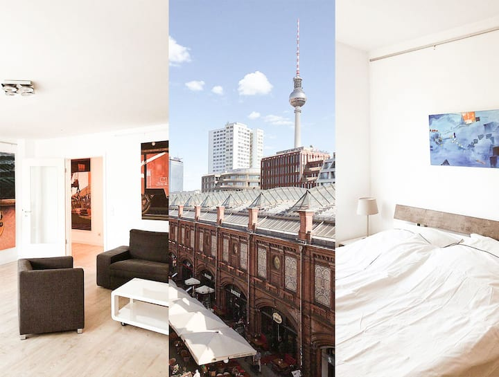 Clean 2 Bedroom Apt w/view in ❤️ Hackescher Markt