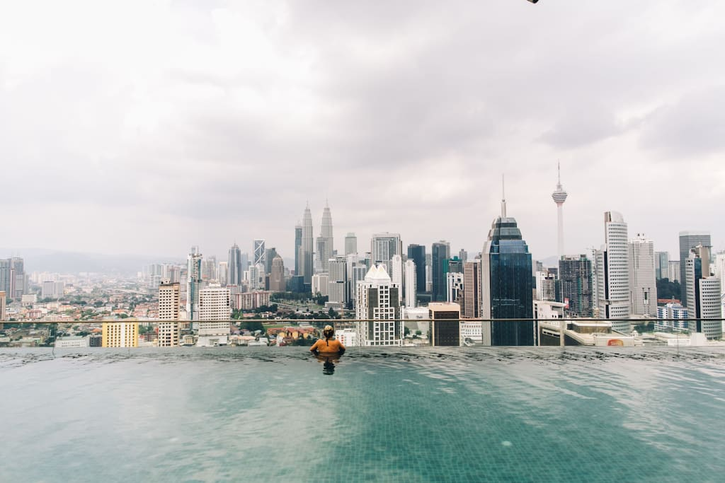 Most famous 37th floor Rooftop Infinity Swimming Pool in our place.