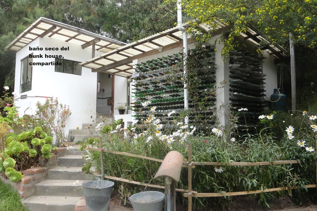 Eco. Toilet at side the Dormitory