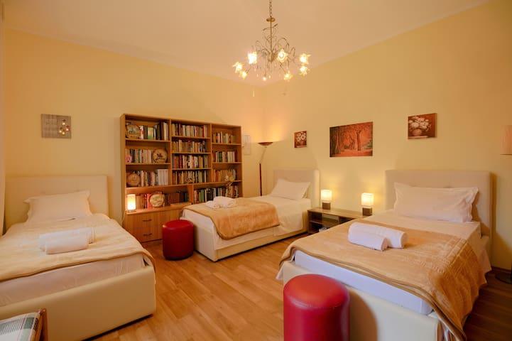 Triple spacious bedroom