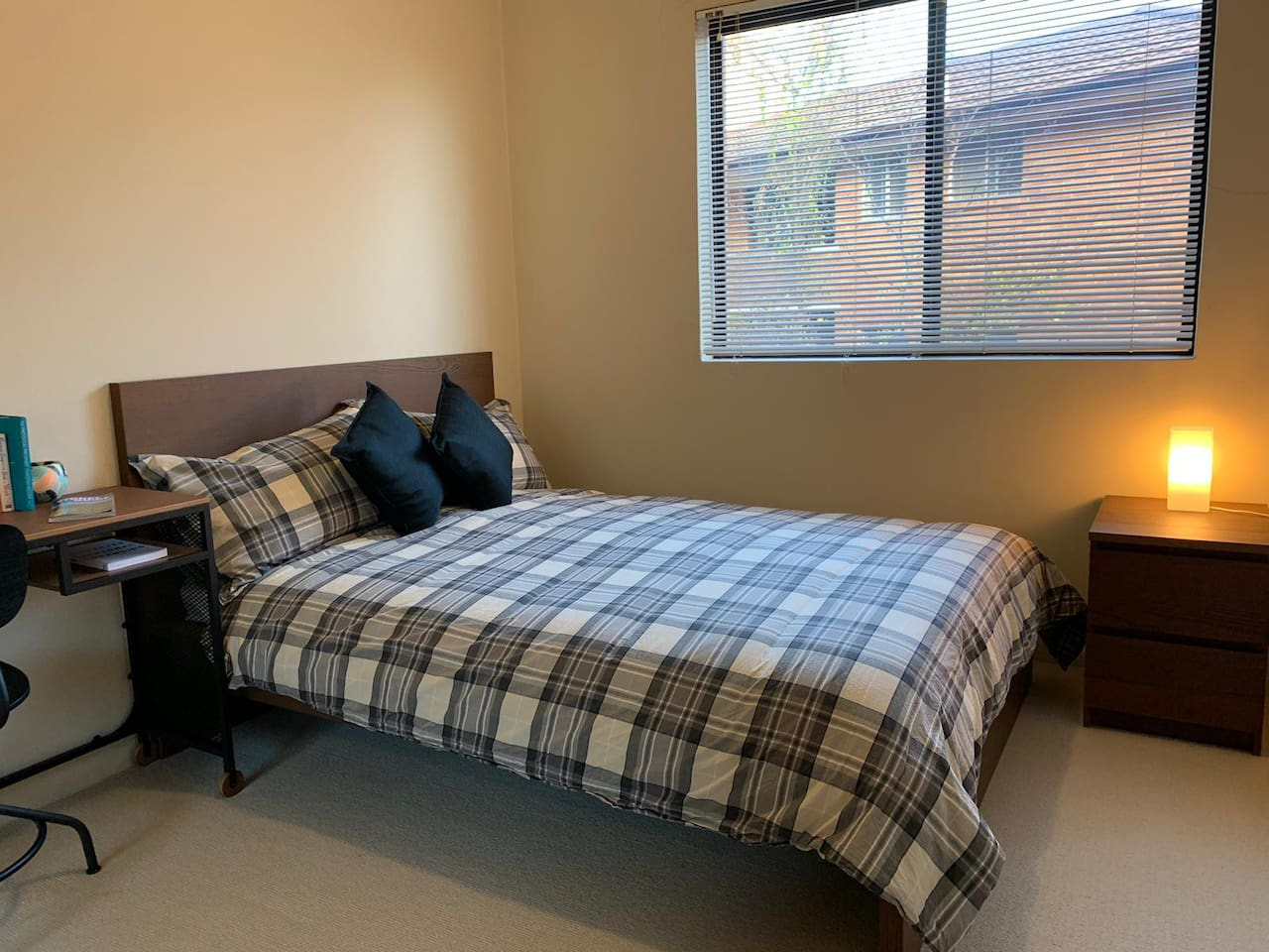 A comfortable bedroom with double-bed for your stay