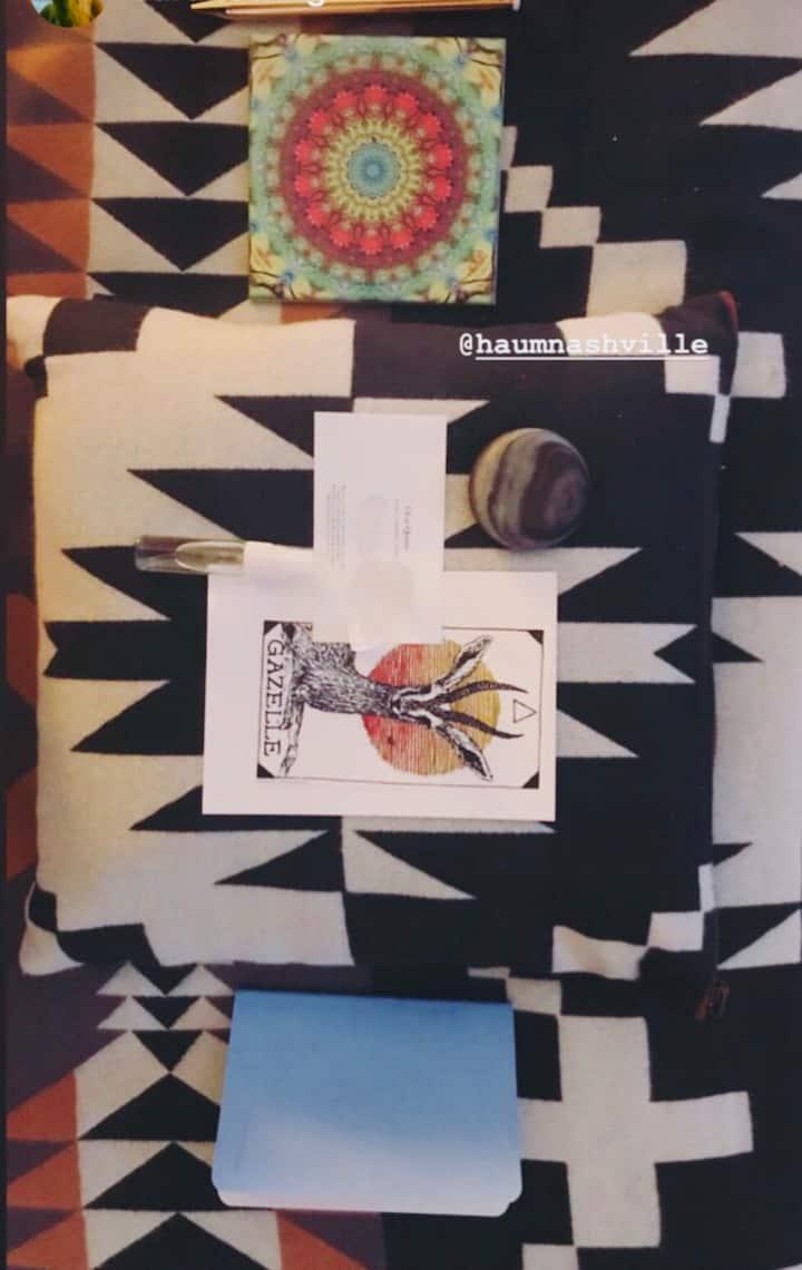 Mandalas, spirit cards Pendleton blanket
