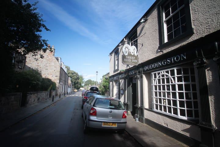 Local 14th Century pub - The Sheep Heid for dinner and drinks