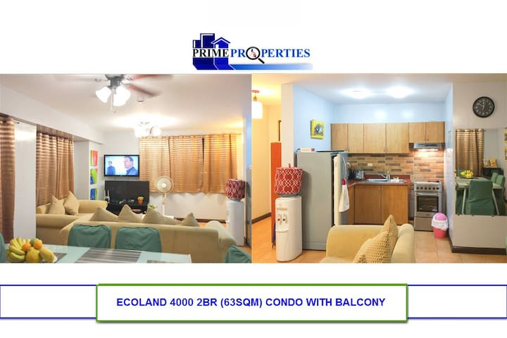 Spacious 2BR Ecoland Davao Condo with DSL Internet - Davao City - Departamento