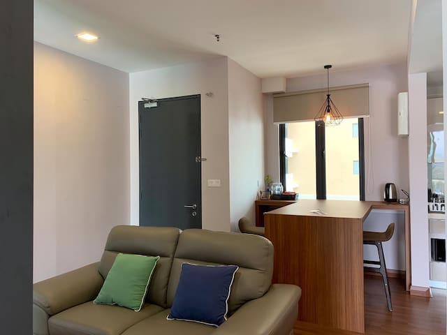 Living area and pantry