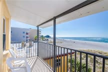 Direct Beach & Gulf Views from Covered Balcony Granite Kitchen & Upgrades Sleeps 4 - Free Wifi - #349 Surf Song Resort