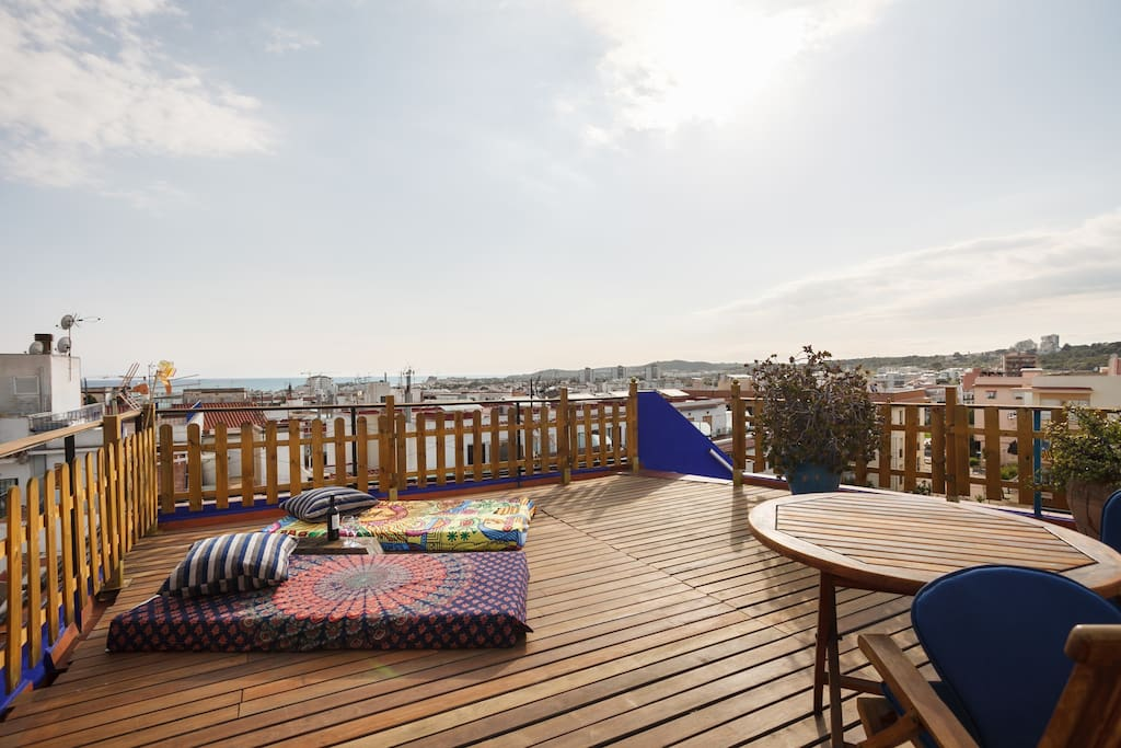The best views of Sitges and sunsets from our Solarium.