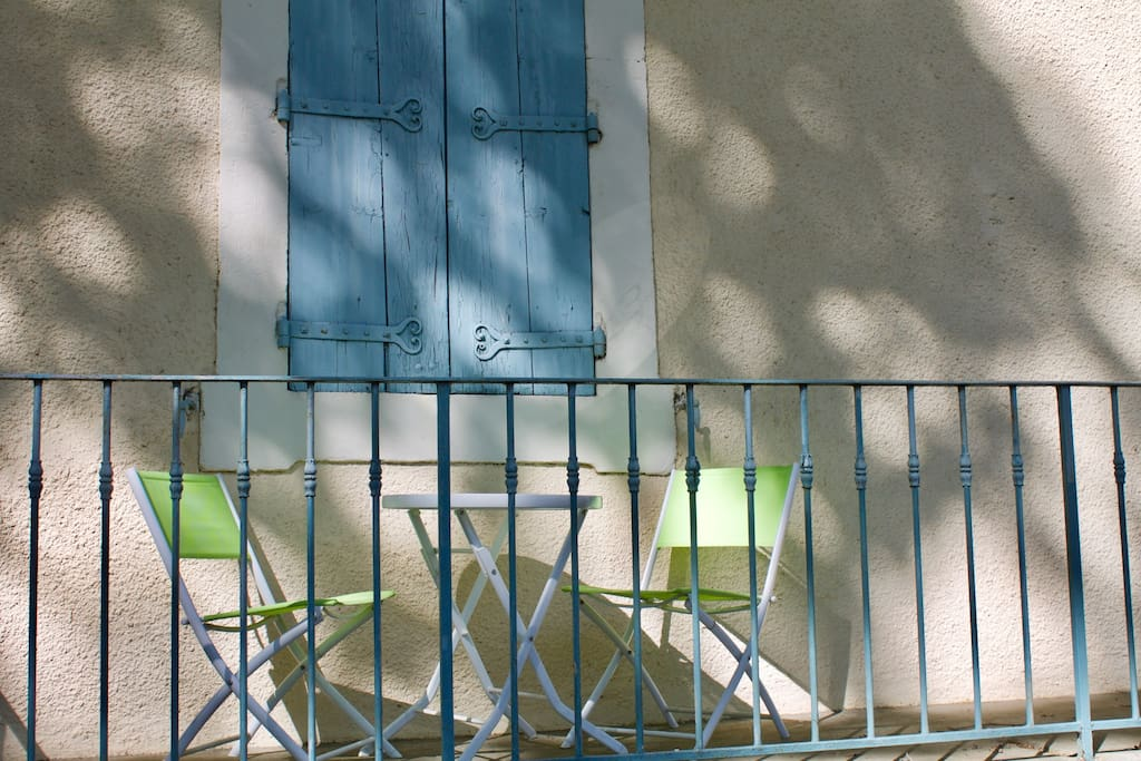 Front terrace overlooking the canal...sit and enjoy a glass or two of local wine.