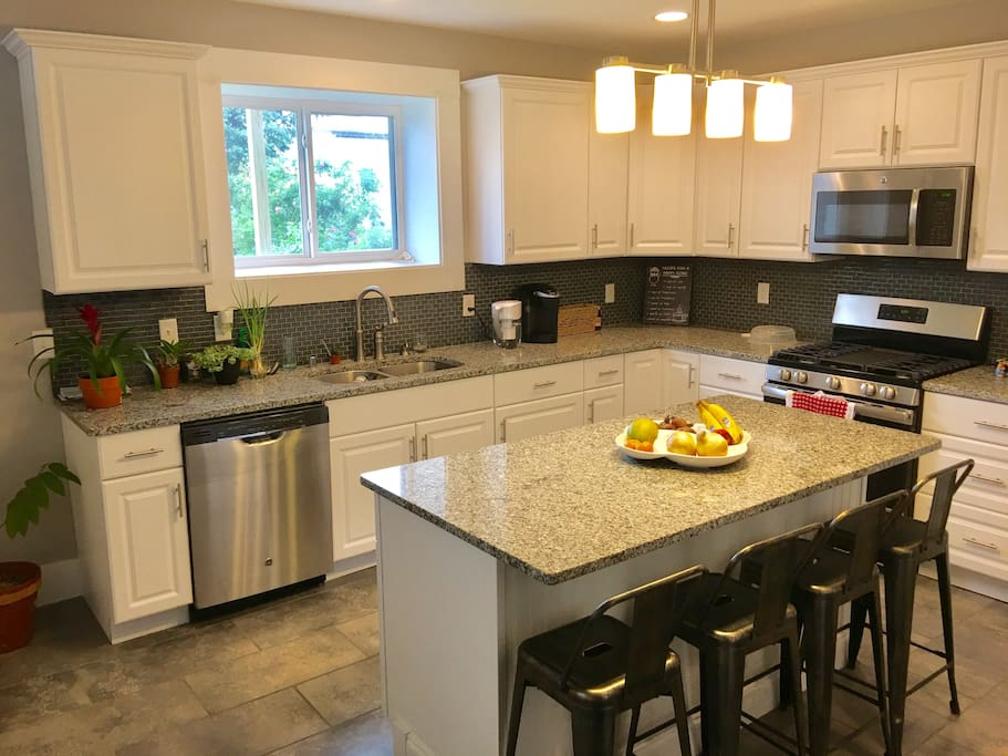 Cook up a storm in this gourmet kitchen. You will have access to cookware, gas stove, microwave, refrigerator