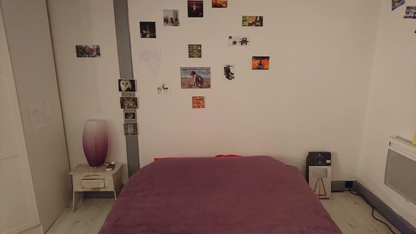 Chambre lit 140 + matelas pour enfant si besoin. - Rivières - Casa