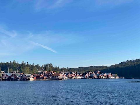 Stuga med öppen spis, Norrfällsviken Höga Kusten