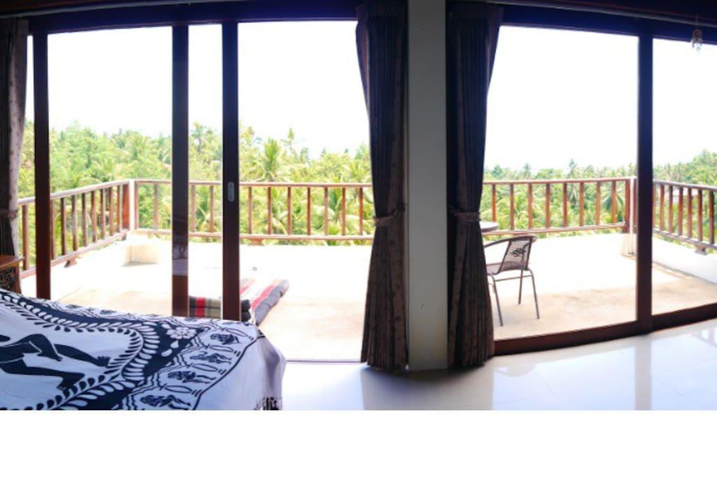 Second floor sea view bedroom