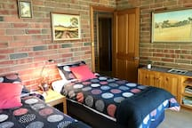 Second Bedroom,the Garden Room, can be made up with 2 single beds.