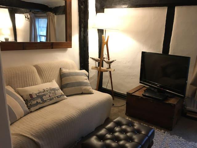 Priors Lodge. Kingsize room for longer stays.