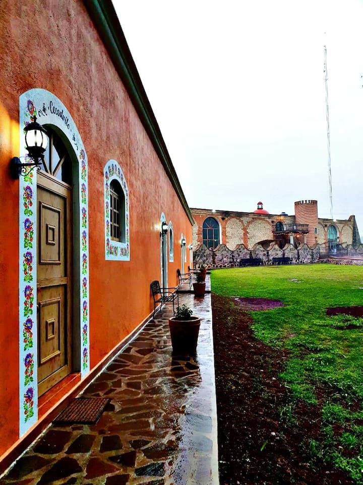 Hacienda  Dolores Tepotzotlán Elevaciones en Globo