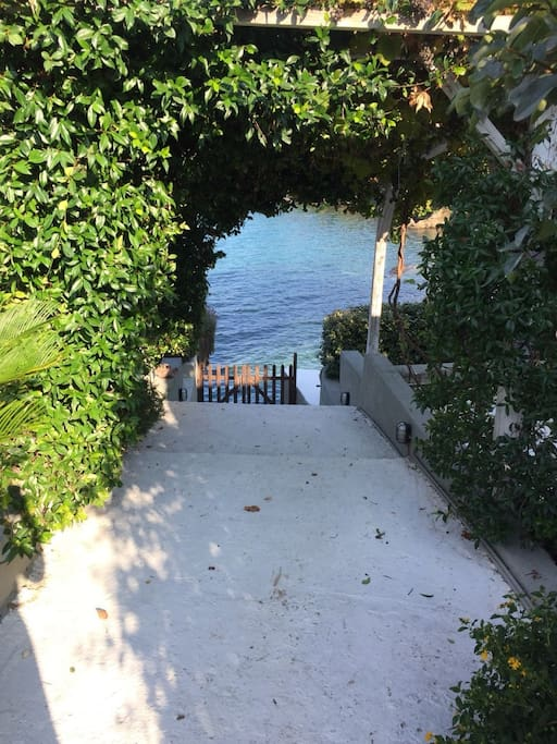 stairway to sea heaven... private beach 2 stairs away!!!
