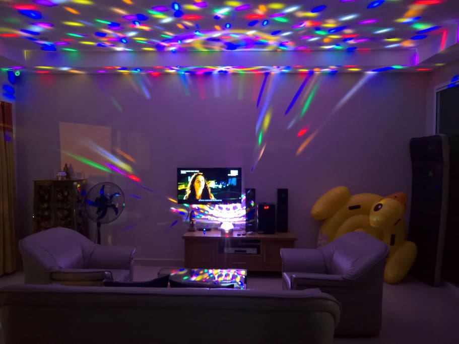 Special amenities for party. (Bluetooth speaker & disco lighting)