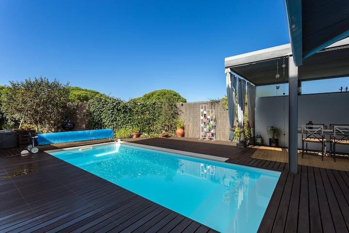 Casa de férias no Meco - com piscina