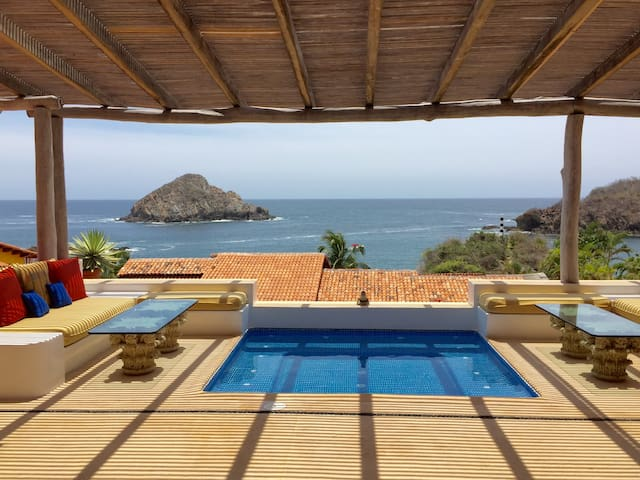 Stunning 2 Bedroom Casita with Pool and Ocean View - Costa Careyes - Hus