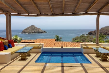 Stunning 2 Bedroom Casita with Pool and Ocean View - Costa Careyes - House