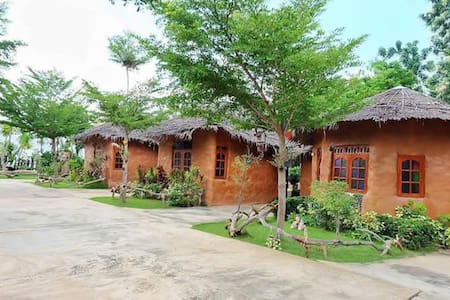 บ้านดินริมน้ำรีสอร์ท อู่ทอง สุพรรณบุรี