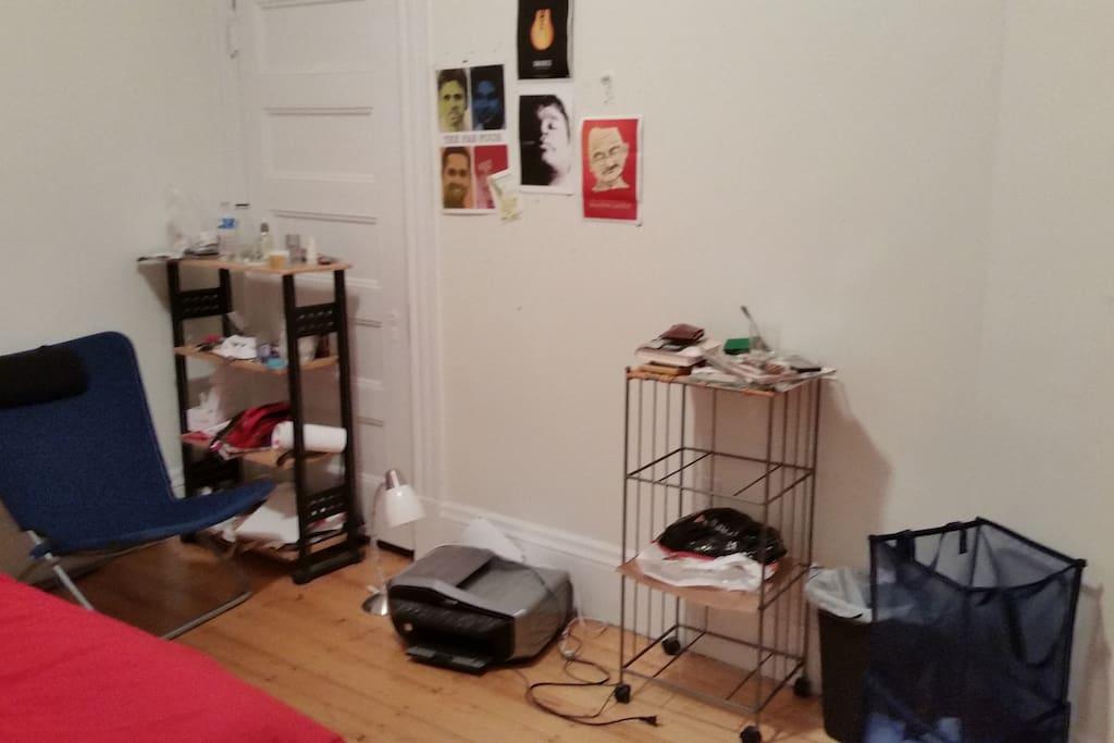 Some shelf-space; a Printer