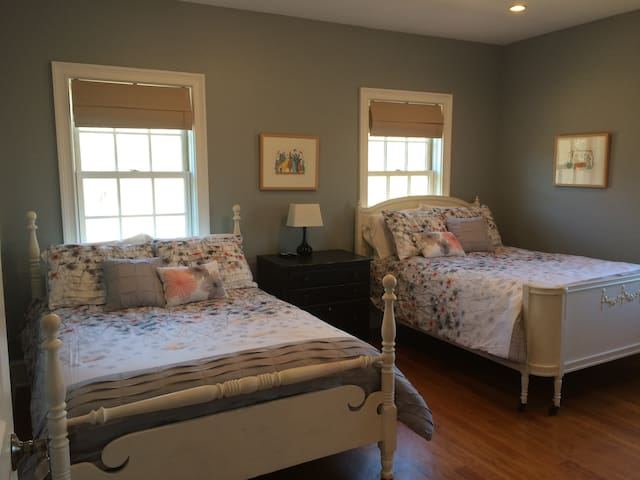 Third bedroom with two full sized beds