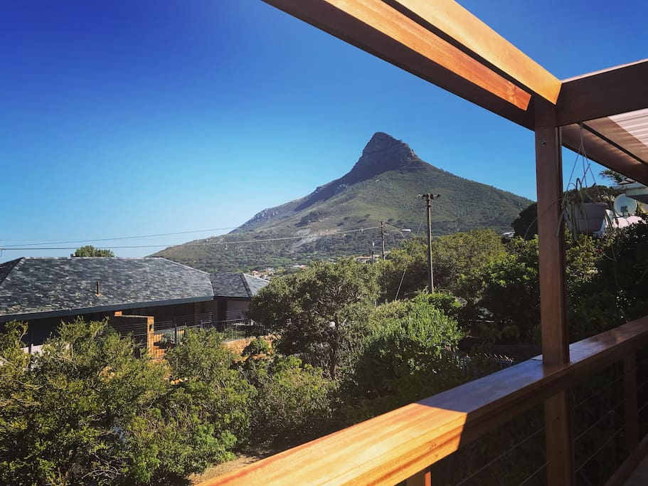 View of Lions Head from terrace