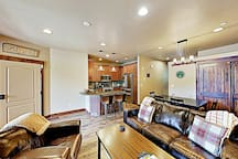 The living area is appointed with ample seating.