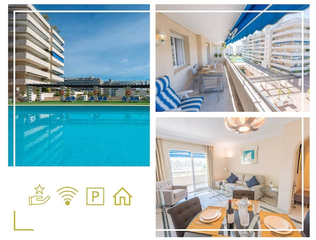 Beach PuertoBanús renovated Apt Wifi Gym Paddle