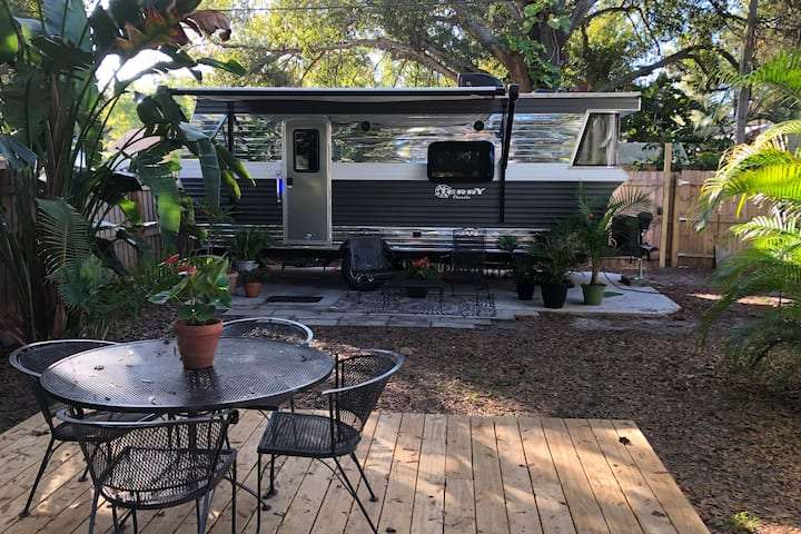 Retro Style RV in St. Pete Urban Oasis