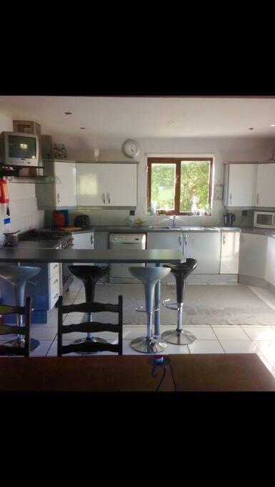 Spacious airy kitchen