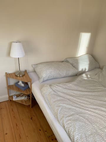 Your room with 160cm wide double bed