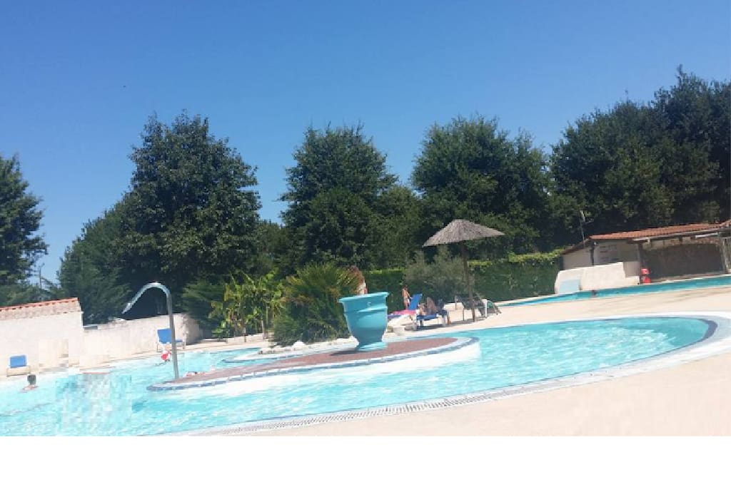 espace baignade piscine camping