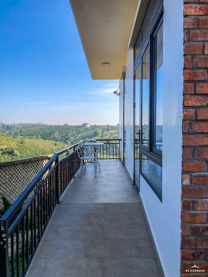 Sen Villa-Phòng Giường King view vườn và  đồi núi