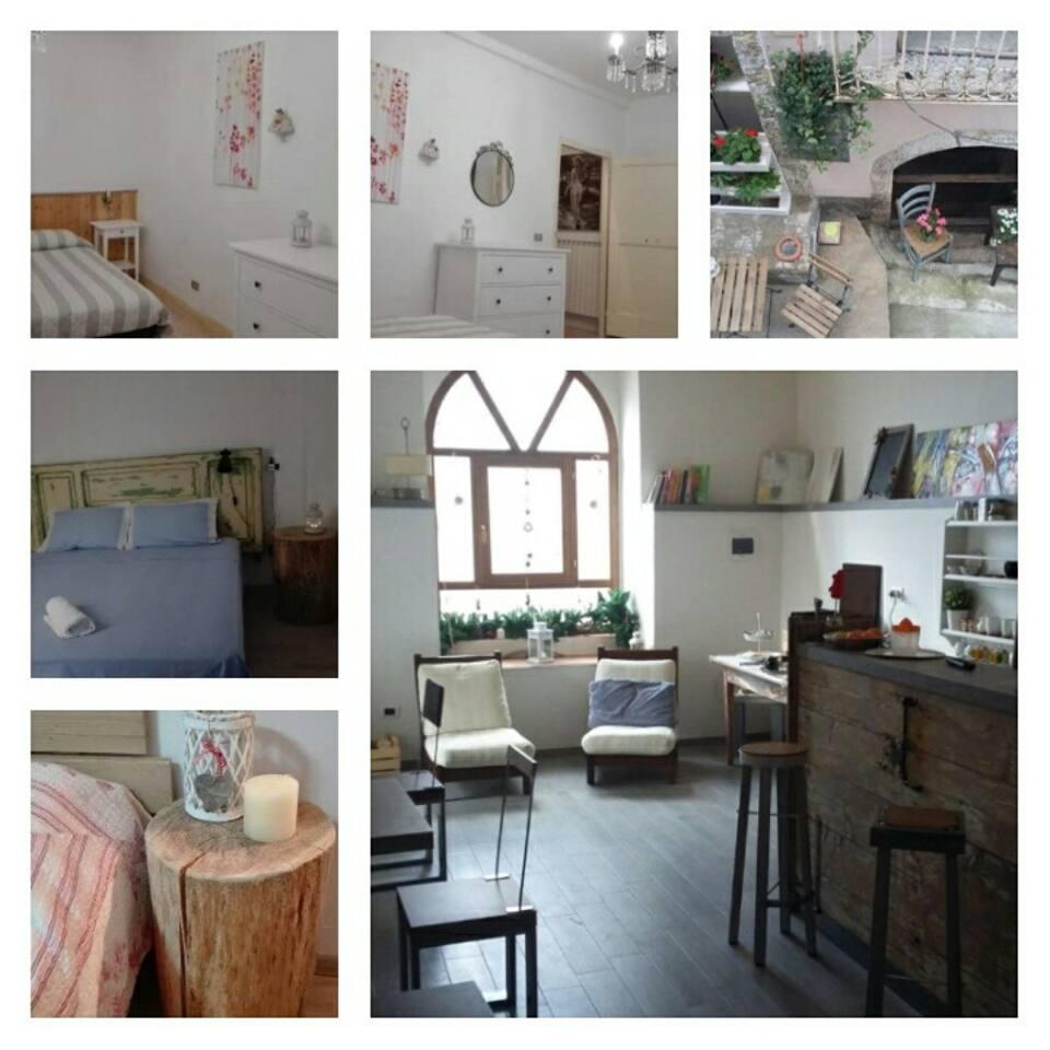 Collage ambienti camere e spazi comuni